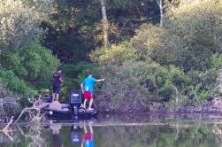 Pêche de précision sur une zone boisée